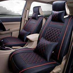 Super PDR Luxury PU Leather Auto Car Seat Covers 5 Seats Ful