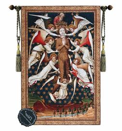 Beautiful Mary Magdalene Raised By Angels Fine Tapestry Jacq