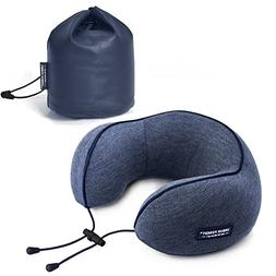 NKTM Memory Foam Travel Neck Pillow Luxury Cushion Adjustabl