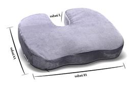 Memory Foam Seat Cushion for Coccyx Tailbone and Back Pain -