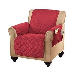 Micro Fleece Quilted Furniture Protector Cover with Pockets,