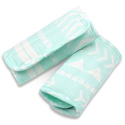 Mint Green Tribal Print Car Seat and Stroller Strap Covers b