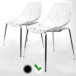 UrbanMod Modern Dining Chairs  by, White Chairs, Kid-Friendl