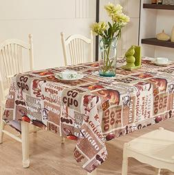 YEMYHOM 100% Polyester Spillproof Tablecloths for Rectangle