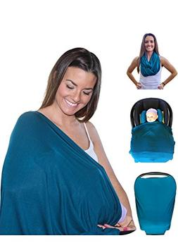 Mom & Bebe Nursing Cover / Scarf / Baby Car Seat Cover with