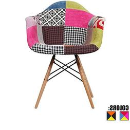 2xhome - Multi-color – Modern Upholstered Eames Style Armc