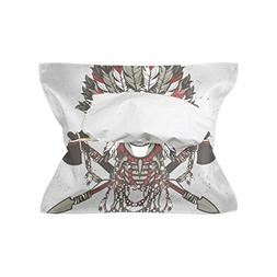 Native American Indian Art Prints Tissue Box Cover Paper Tow