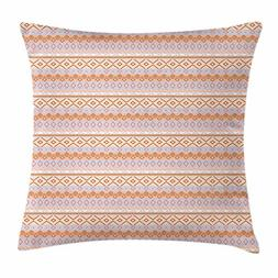 Native American Throw Pillow Cushion Cover by Ambesonne, Hor