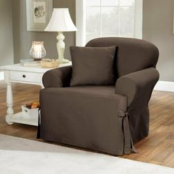 NEW IN PACKAGE Sure Fit Cotton Duck T-Cushion Chair Slipcove