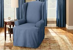 New in package Sure Fit Cotton Duck Wing Chair T-Cushion Sli