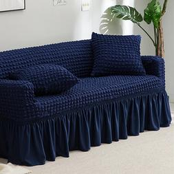 New Jacquard Sofa Cover With Skirt European Sectional Couch