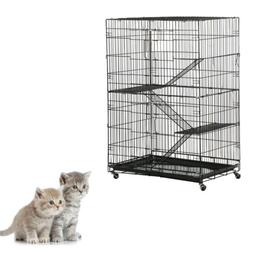 new large folding collapsible pet cat wire