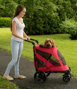 NEW Pet Gear NO-ZIP Excursion Dog Cat Stroller Zipperless Pu
