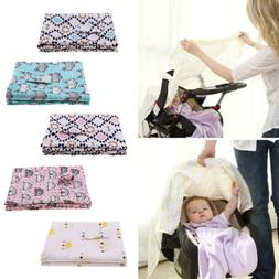 New Nursing Breathable Privacy Cover Baby Scarf Car Seat Can