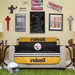 NFL Pittsburgh Steelers Love Seat Reversible Furniture Prote