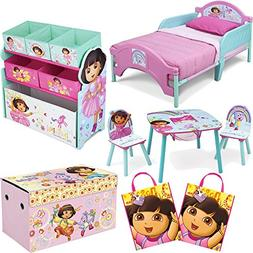 Nickelodeon Delta Children Dora The Explorer 8-Piece Furnitu