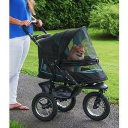 Pet Gear NV no zip dog cat stroller jogger plush pad with we