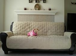 OctoRose® quilted Micro Suede Pets Sofa or love seat or arm