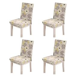 OHREX 4PCS Stretch Short Removable Dining Chair Covers, Wedd