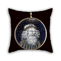 Oil Painting Limbourg Brothers - Medallion With The Emperor