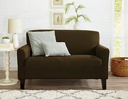 Great Bay Home One Piece Loveseat Silpcover, Slip Resistant,
