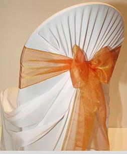 MDS Set of 50 Organza Chair Sashes / Bows sash for Wedding o