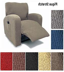 Orly's Dream Pique Stretch Fit Furniture Chair Recliner Lazy