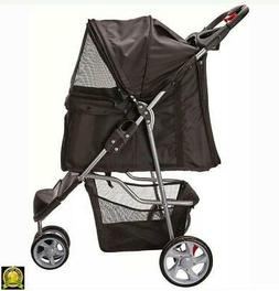 OxGord Pet Stroller Cat Dog  Wheel Walk Jogger Travel Foldin