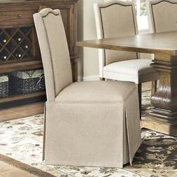 Coaster Parkins Skirted Parson Chair in Coffee - Set of 2