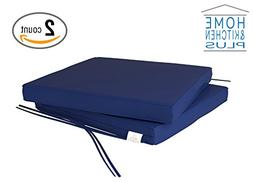 Outdoor Chair Cushions   Patio Seat Pads   Set of 2   Waterp
