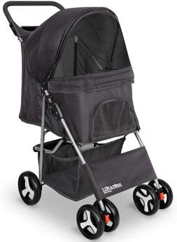 Paws & Pals 4 Wheeler Elite Jogger Pet Stroller Cat/Dog Easy