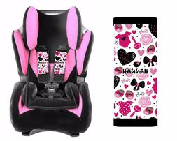 PERSONALIZED BABY TODDLER CAR SEAT STRAP COVERS CUTE GIRL BO