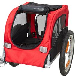 Pet Bike Carrier Dog Cat Bicycle Trailer and Stroller Red
