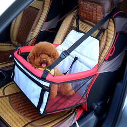 Pet Car Seat Cover Dog Puppy Cat Bag Booster Basket Carrier