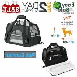 Pet Carrier Soft Sided Cat / Dog Comfort Travel Tote Bag Air