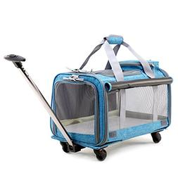 Pet Carrier Stroller,Soft-Sided Pet Travel Carrier with Remo