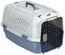 Pet Carrier Two Door Top Load Kennel Travel Crate Dog Cat Pu