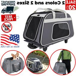 Pet Stroller Cat Dog 4 Wheel Walk Jogger Travel Folding Carr