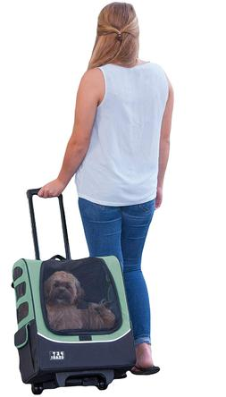 Pet Carrier With Wheels For Small Dogs Cat Rolling Backpack