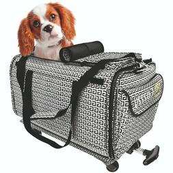 Cozzzy Pet Carrier with Wheels Soft Sided for Small Dogs Cat