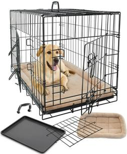 Pet Dog Cat Crate Kennel Cage Bed Pad Cushion Warm Soft Cozy