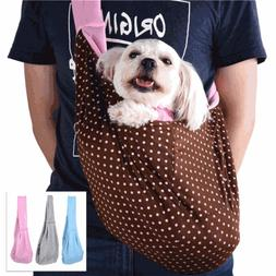 Pet Dog Cat Travel Sling Carrier Bag Travel Tote Pouch Shoul