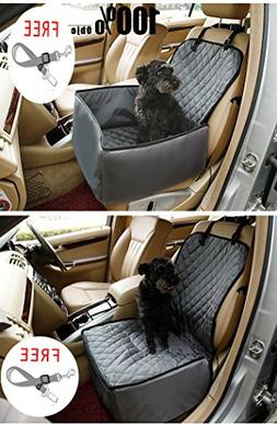 Pet Front Seat Cover Pet Booster Seat, C&D 2 in 1 Deluxe Dog