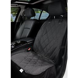 BarksBar Pet Front Seat Cover for Cars - Black, Waterproof &