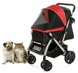 HPZ PET Premium Heavy-Duty Dog/Cat/Pet Stroller Travel Carri