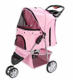 Pet Jogger Stroller Shopping Taking A Walk Run Zippered Mesh