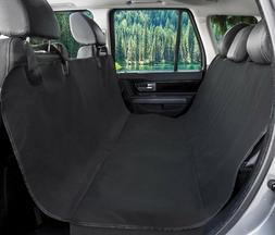 BarksBar Pet Seat Cover for Cars - Black, Waterproof & Hammo