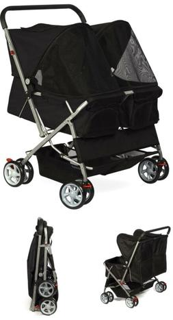Oxgord Pet Stroller Cat/Dog Easy Walk Folding Travel Carriag