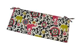 """Pink, Lime Green, Turquoise, Gray Bohemian Elephant 2"""" Thick"""