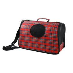 Anima Plaid PVC Hard Shell Pet Travel Carrier, 15-Inch by 8.